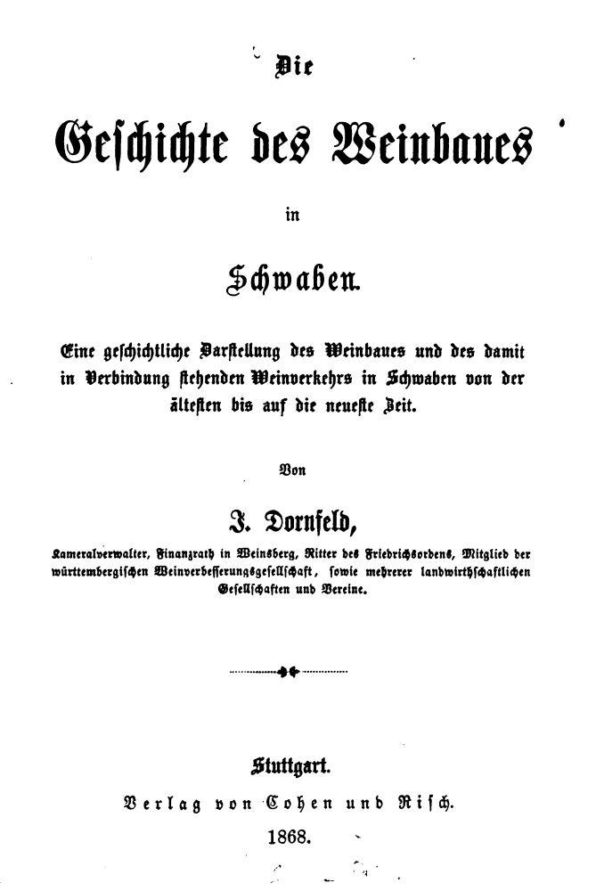 Dornfeld Geschichte des Weinbaus