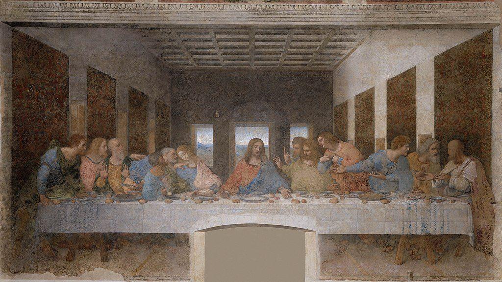 Wein und Bibel da Vinci Abendmahl