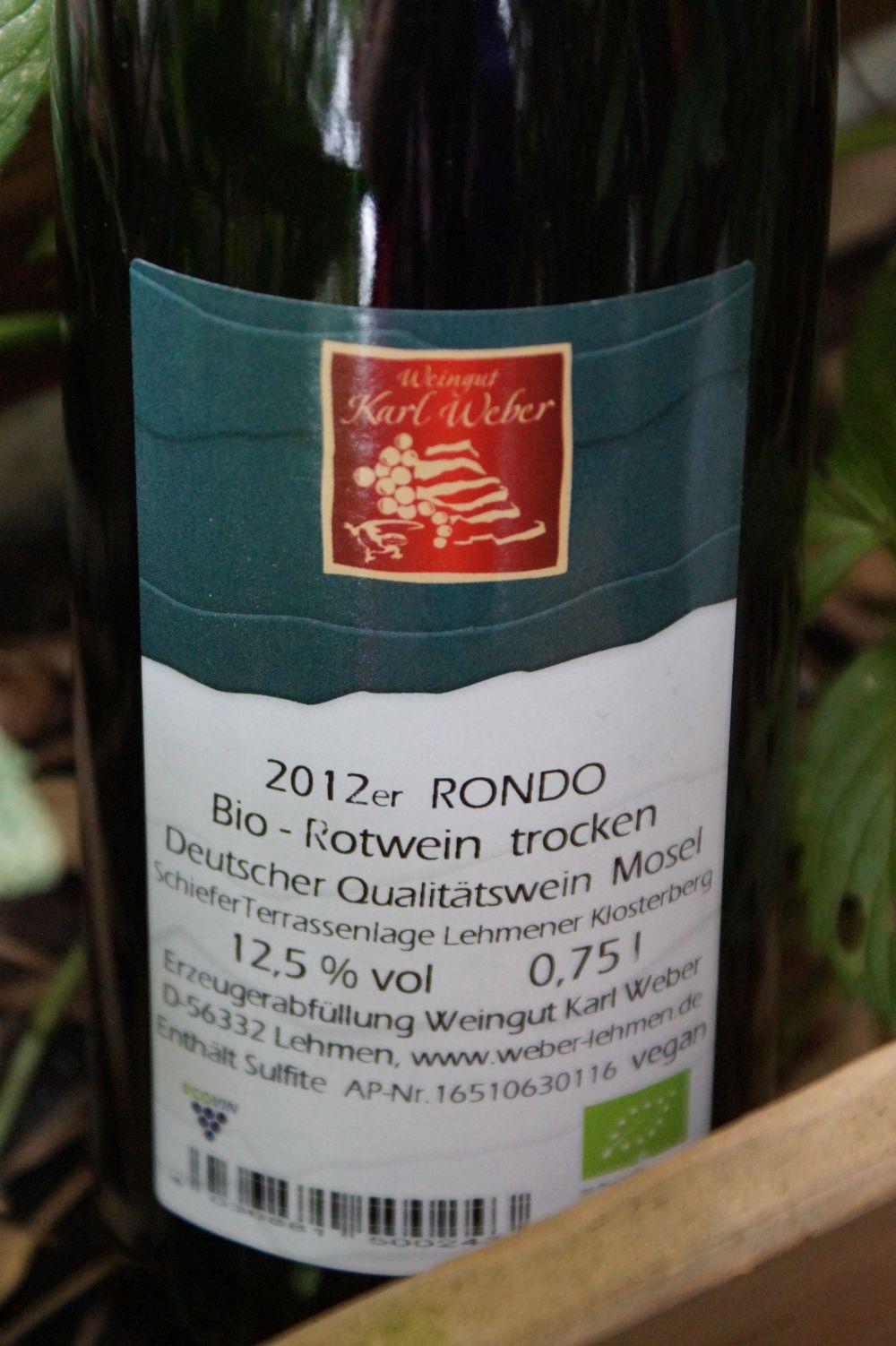 Rondo vom Weingut Weber aus Lehmen (Mosel)